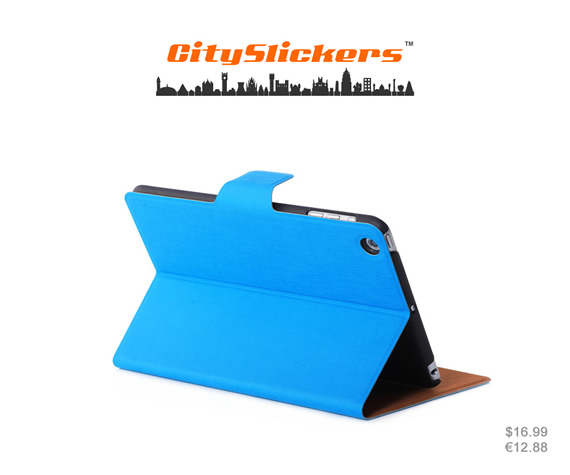 Standable wallet case in succinct design. Its ultra-thin profile keeps your iPad mini slim and lightweight. Colors: Red, sky blue, light green and yellow. Materials: High quality PU leather and ultra-thin material.